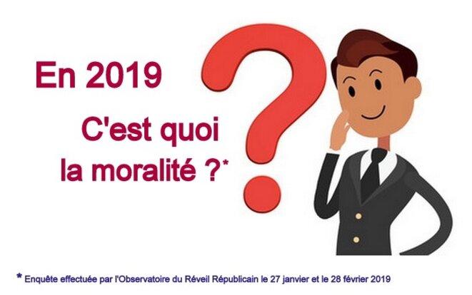 En 2019, c'est quoi la moralité ? © Pierre Reynaud