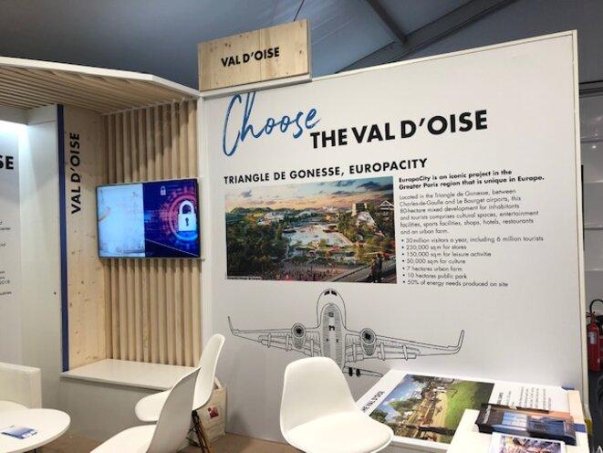 Stand du Val-d'Oise au MIPIM 2019, salon de l'immobilier et des grands projets.