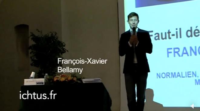 Vidéo  supprimée d'une conférence de Bellamy à Ichtus © Ichtus