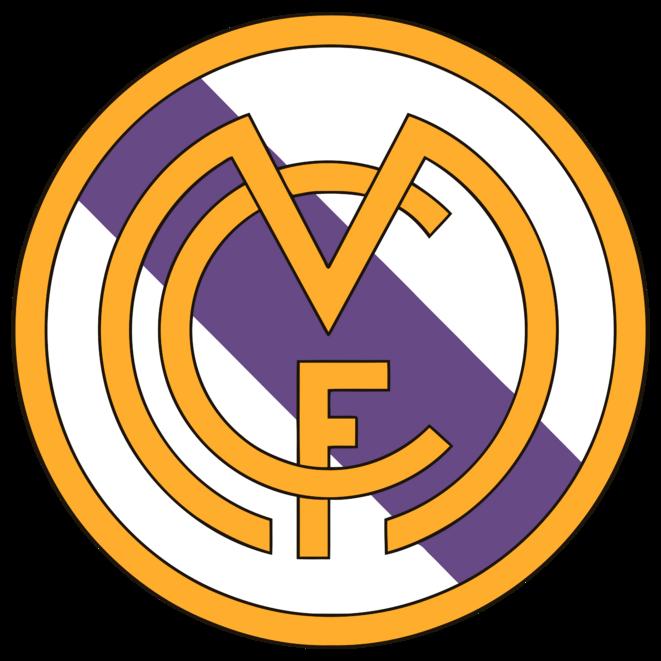 Emblème du Madrid Football Club (1931-1941) - Disparition de la couronne royale et ajout de la bande violette