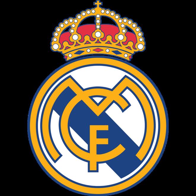 Emblème du Real Madrid (depuis 1997) - Disparition de la bande violette, effaçant la dernière référence à la République