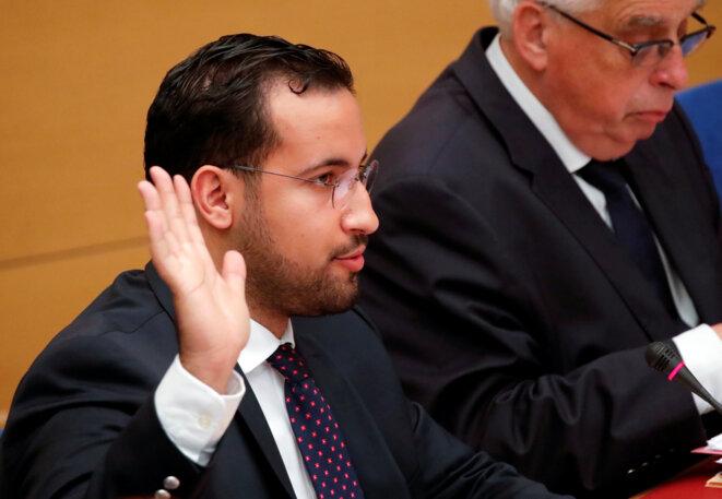Alexandre Benalla devant la commission d'enquête du Sénat. © Reuters