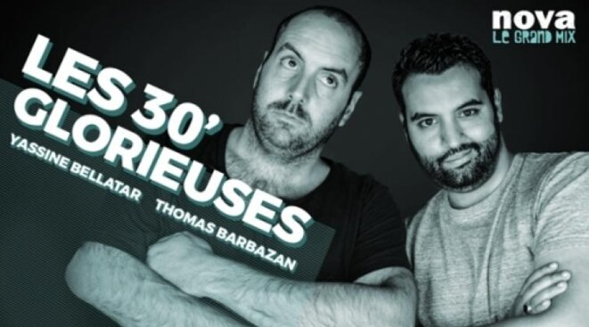 Thomas Barbazan et Yassine Belattar, figures de Radio Nova.