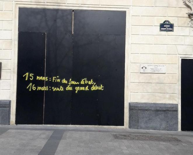 Champs-Elysées, 16 mars 2019 © PC