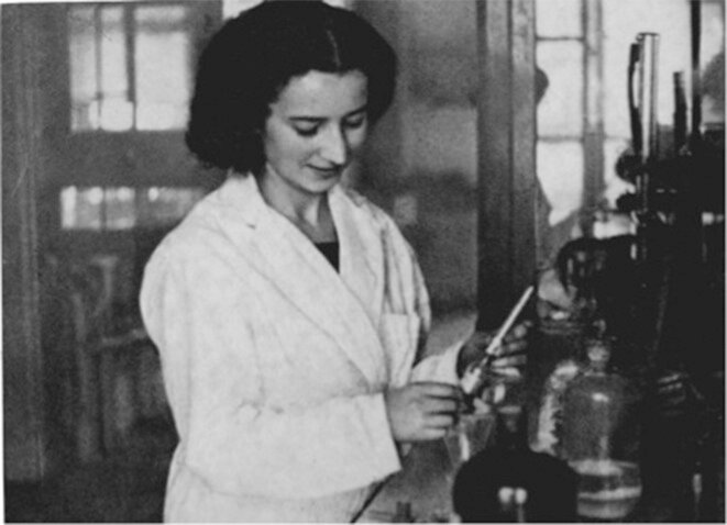 France Bloch-Sérazin was a researcher in chemistry. © Private collection R. Sérazin, Marseille