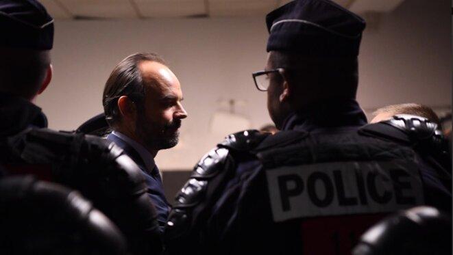 Edouard Philippe au soir du 8 décembre 2018. © Services du Premier ministre