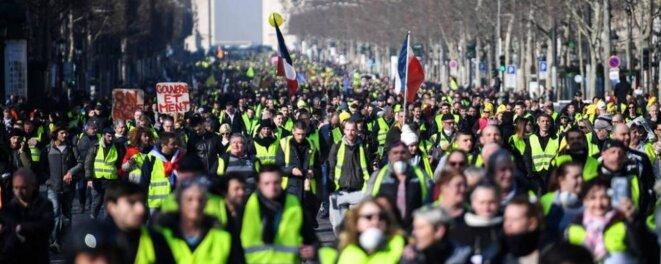 L'acte XVIII des Gilets jaunes, le 16 Mars 2019 dans les rues parisiennes