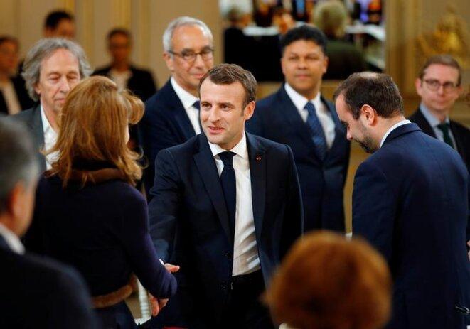 À l'Élysée, le 18 mars. © Reuters