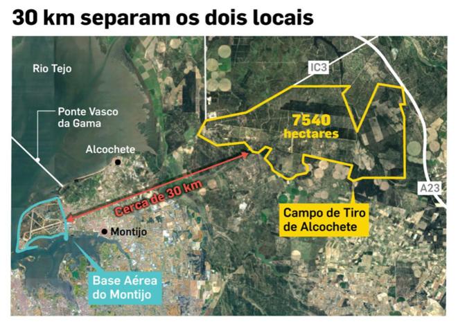 Campo de Tiro, terrain militaire portugais, entraînement européen (OTAN) © D.R.