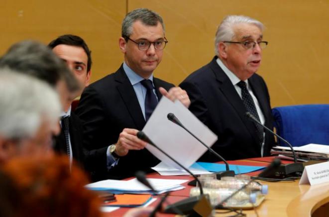 Alexis Kohler devant la commission d'enquête sénatoriale. © Reuters