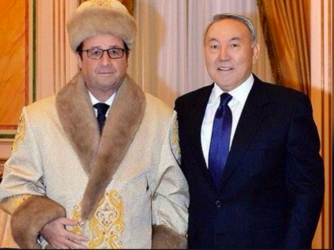 En décembre 2014, François Hollande avait rendu visite à Nazarbaïev. © DR