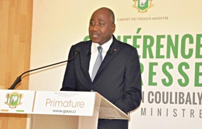 Le premier ministre ivoirien, Amadou Gon Coulibaly, en grande difficulté