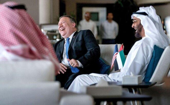 Mike Pompeo avec le Prince Mohamed Bin Zayed