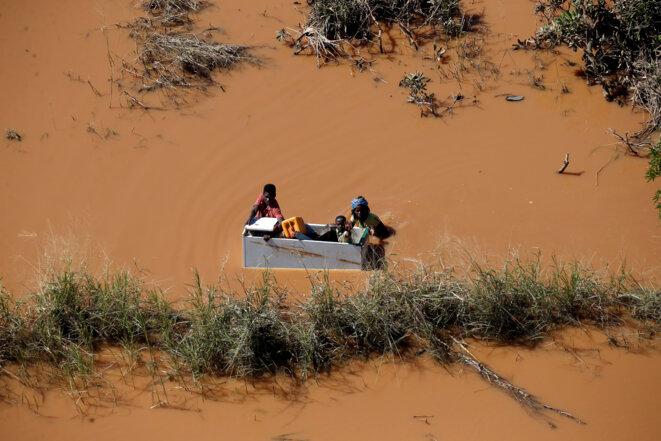 Durant le cyclone Idai, au Mozambique, le 21 mars 2019. © Reuters