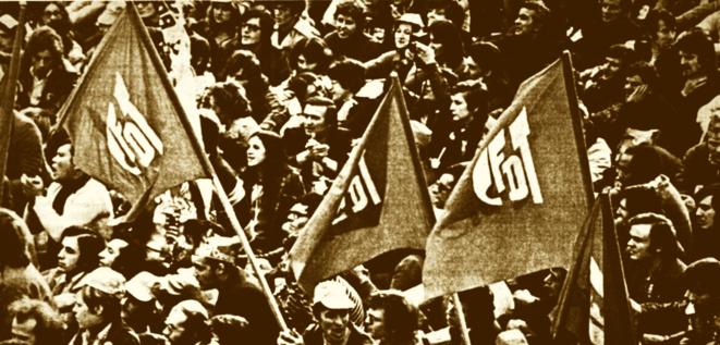 Cortège de la CFDT en 1970