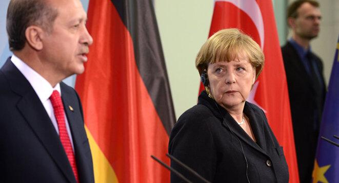 La Chancelière allemande Angela Merkel et le Président turc Recep Erdogan