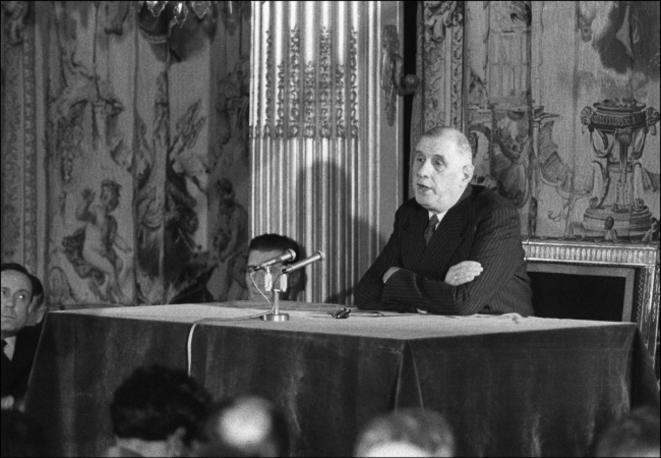 25 mars 1959 : première conférence de presse à l'Elysée © Pierre Reynaud