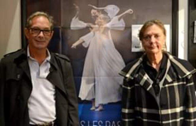 Robert Swinston, directeur du CNDC d'Angers, avec sa co-directrice Claire Rousier, en octobre 2017 à Angers
