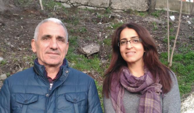 Hidir Demir et Nursat Yesil, co-candidats du HDP à la mairie de Tunceli. © NC