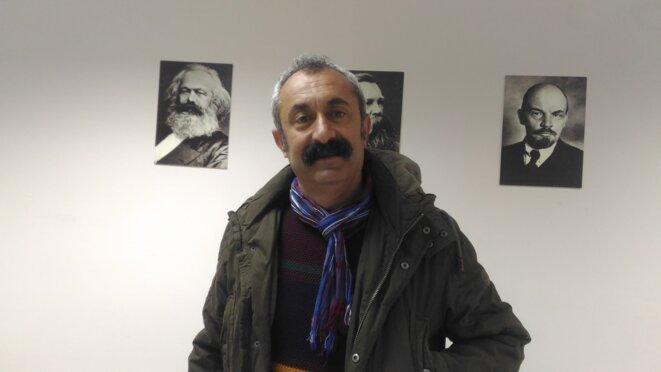Fatih Mehmet Maçoglu, maire sortant d'Ovacik et candidat TKP à la mairie de Tunceli. © NC