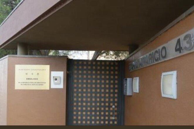 L'ambassade nord-coréenne à Madrid.