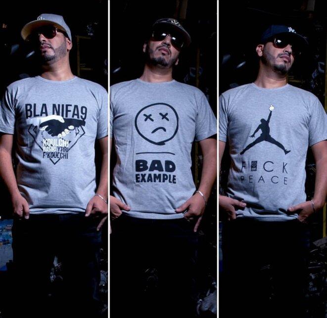 Les T-shirt proposés par Lmoutchou © Amine Bennour