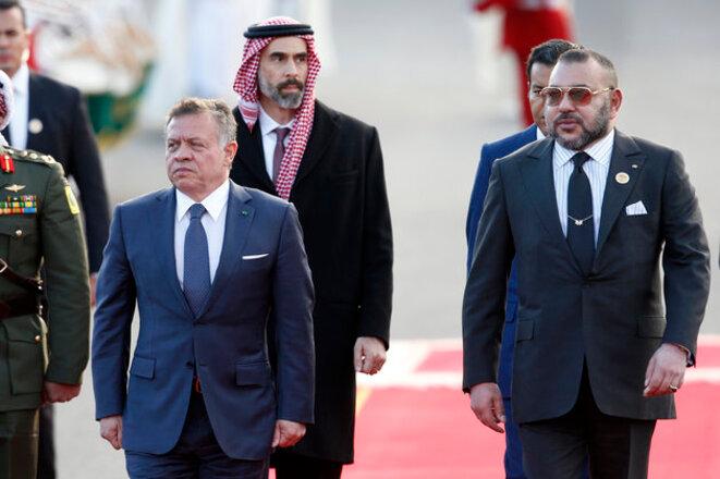 Mohammed VI roi du Maroc et Abdallah II roi de Jordanie