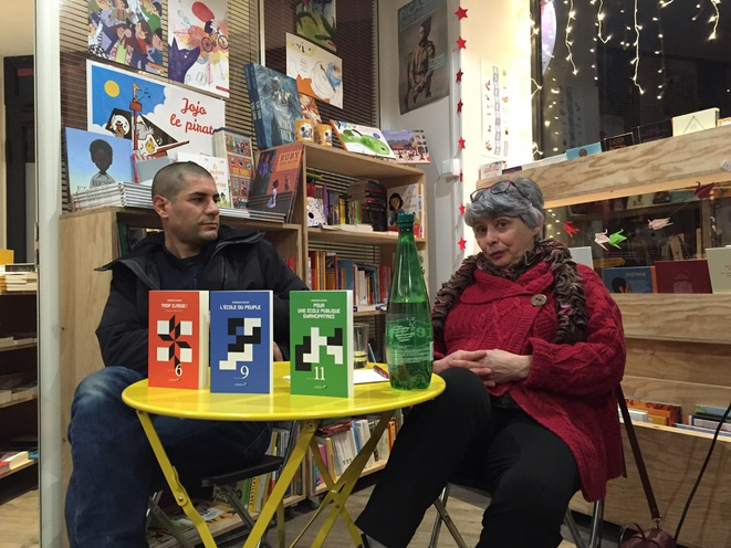 Véronique Decker et Nicolas Norrito aux éditions Libertalia, Montreuil mars 2019 © Gilles Walusinski