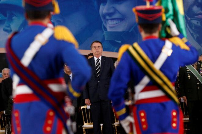 Jair Bolsonaro, le président du Brésil, le 11 janvier 2019 à Brasilia. © Reuters