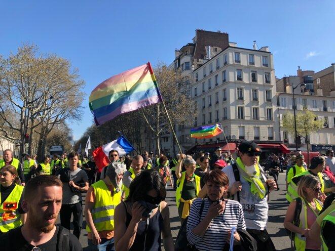 Dans le cortège parisien, samedi 30 avril. © KL