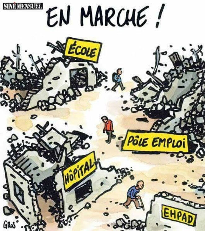 "publication ""Siné Mensuel"" © Gros"