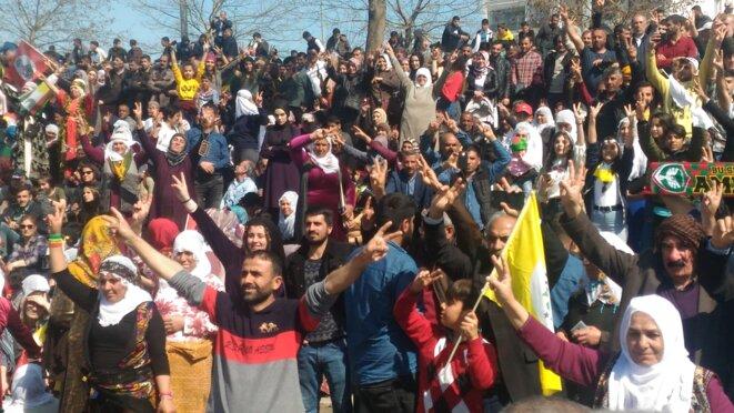 Fête du Newroz à Diyarbakir. © Nicolas Cheviron