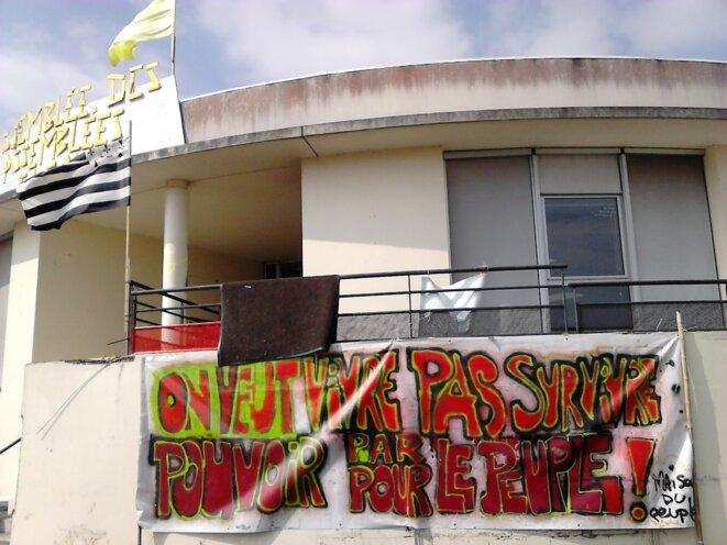 La façade de la maison du peuple de Saint-Nazaire. © PYB