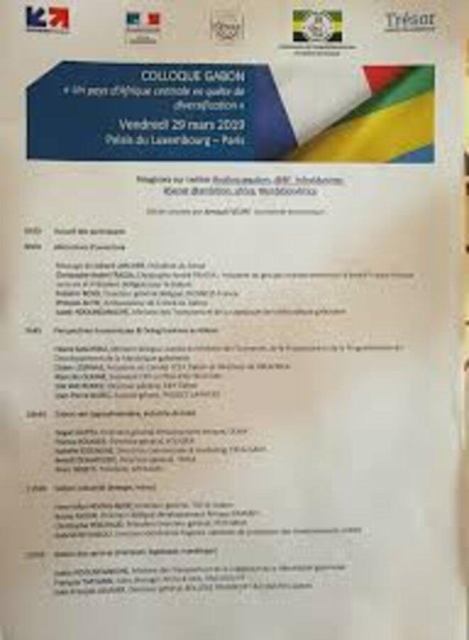 SÉNAT - colloque Gabon, 29 mars 2019