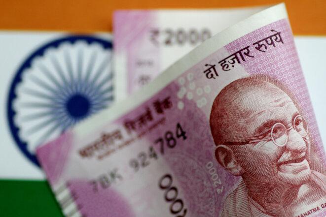 Un billet de 2000 roupies indiennes. © Reuters