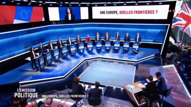 Premier débat télévisé de la campagne des européennes, le 4 mars 2019. © Capture d'écran / France 2