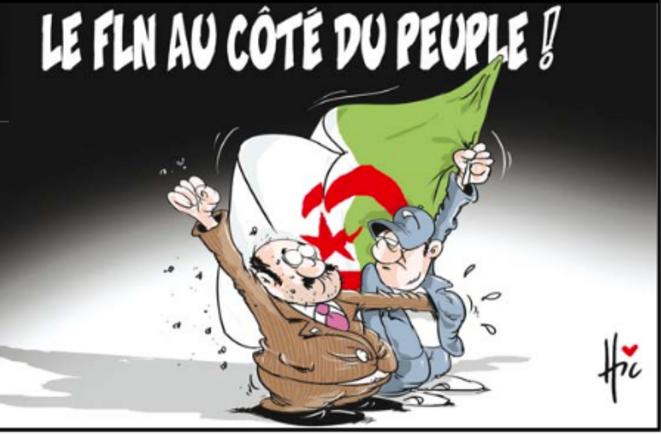 """Hic est dessinateur au quotidien """"El Watan""""."""