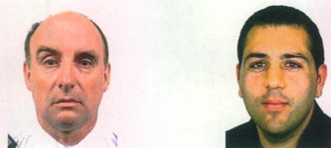 Dominique Serniclay et Abdelhafidh Chraiet, les deux commissaires de police mis en examen aux côtés de l'ancien conseiller de l'Élysée Faouzi Lamdaoui, pour violation du secret professionnel. © DR