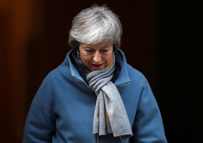 Theresa May le 14 mars 2019 à Londres. © Reuters