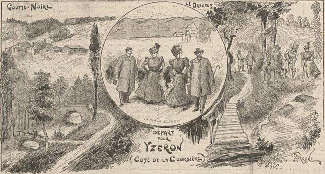 départ pour Yzeron, le Progrès illustré, juin 1898 © le Progrès illustré