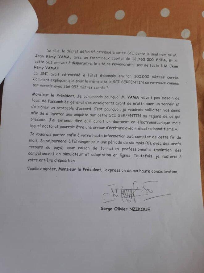 Affaire Serge Olivier NZIKOUE contre Jean Remy YAMA-002