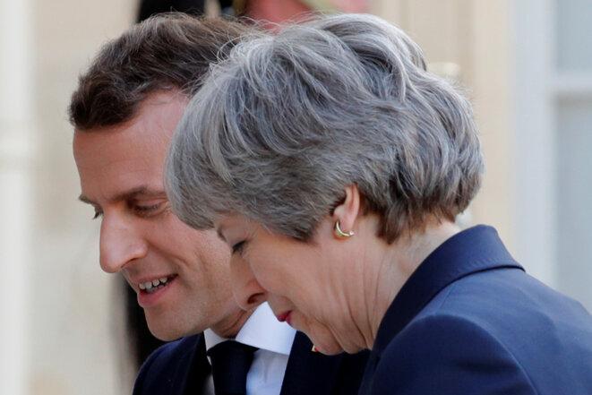 Emmanuel Macron et Theresa May à l'Élysée, le 9 avril 2019. © Reuters/Philippe Wojazer