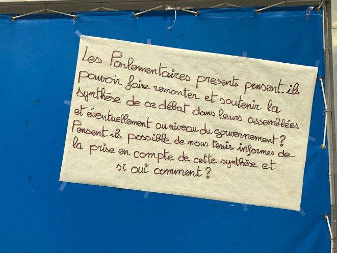 Texte affiché lors du débat citoyen.