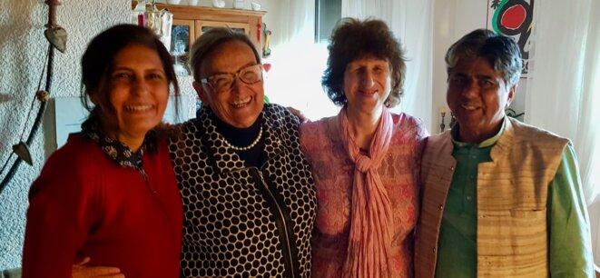 Ena Singh, Elly Pradervand, Jill Carr-Harris et Rajagopal le 8 mars 2019 © Benjamin Joyeux