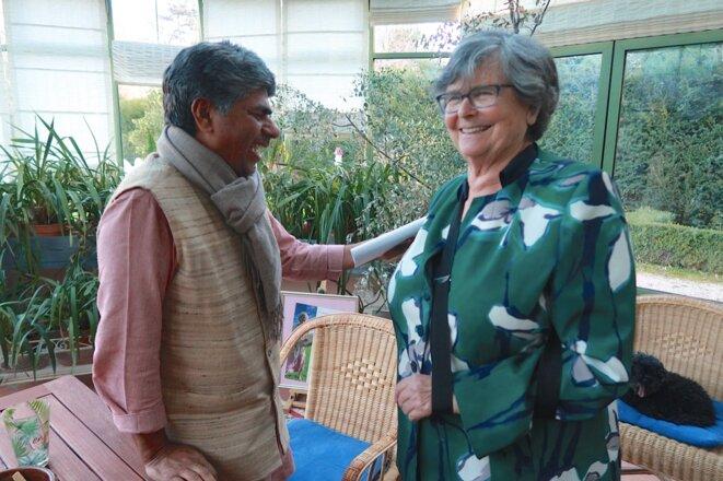 Rajagopal et Ruth Dreifuss à Cara le 18 mars © Liliane de Tolédo