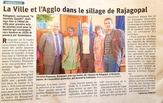 Article du Dauphiné Libéré du 9 mars 2019