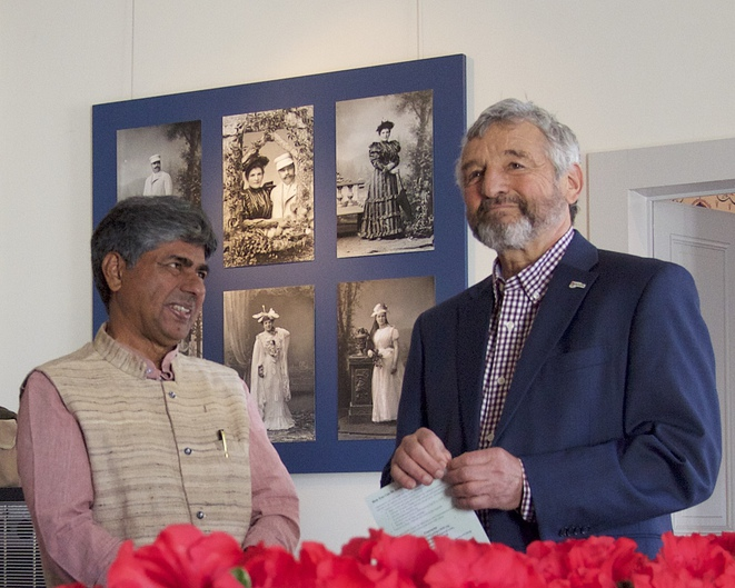 Rajagopal et Daniel Rossellat, Syndic de Nyon, le 16 mars 2019 © Michel Baumann