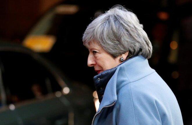 Theresa May, après le sommet européen, le 11 avril 2019. © Reuters