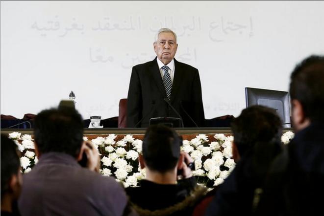 9 avril 2019. Abdelkader Bensalah est nommé président par interim de l'Algérie. © Reuters
