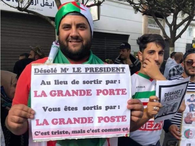Manifestation dans le centre d'Alger cette semaine. © (dr)